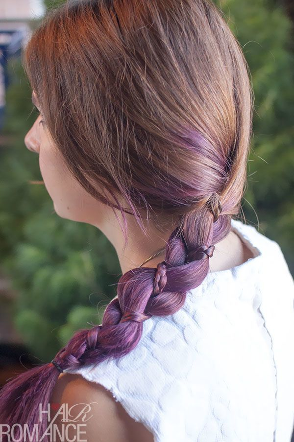 Mini-Purple-hair-Braid Purple Hairstyles- These 50 Cute Purple Shade Hairstyles You Cant Resist Trying