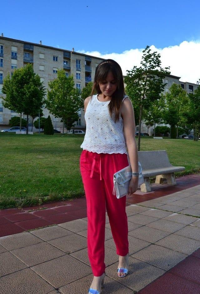 Pink baggy pants