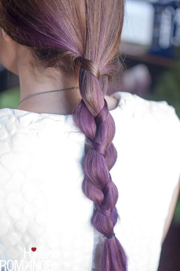 Purple Braids Ideas