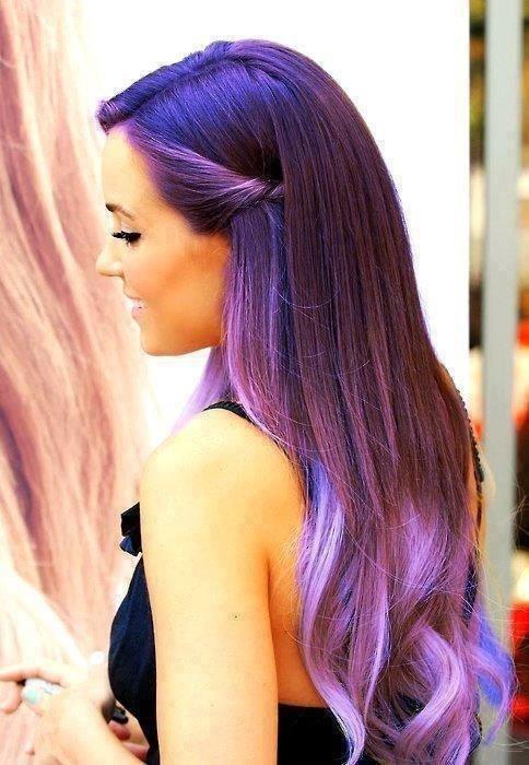 Marvelous 30 Cute Purple Hairstyle Ideas For This Season Short Hairstyles Gunalazisus