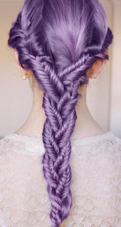 Purple-Haistyle-ideas Purple Hairstyles- These 50 Cute Purple Shade Hairstyles You Cant Resist Trying