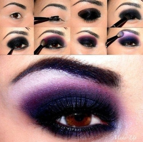 Purple Smokey Eye makeup
