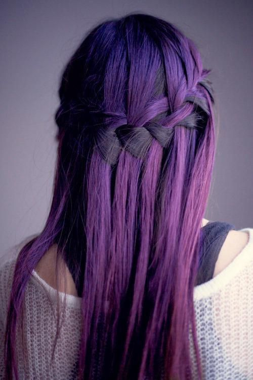 Purple Waterfall Braid
