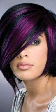 Tremendous 30 Cute Purple Hairstyle Ideas For This Season Short Hairstyles Gunalazisus