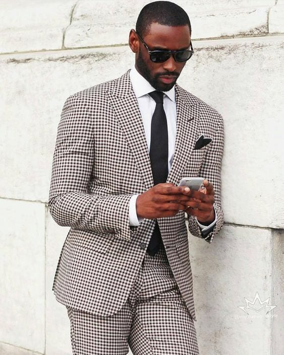 check-suits-for-men 18 Popular Dressing Style Ideas for Black Men - Fashion Tips