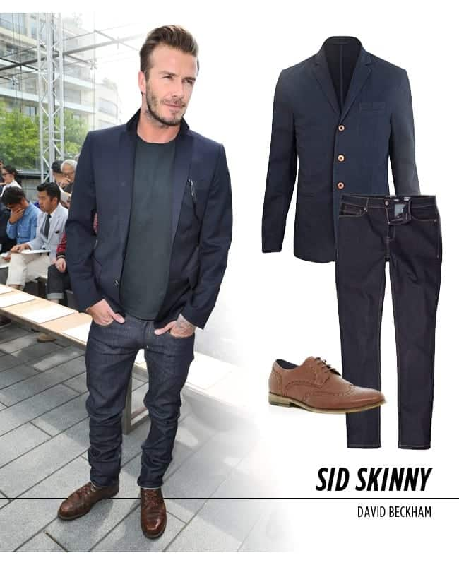 david-beckham-suit-jacket-with-jeans 30 Amazing Men's Suits Combinations to Get Sharp Look