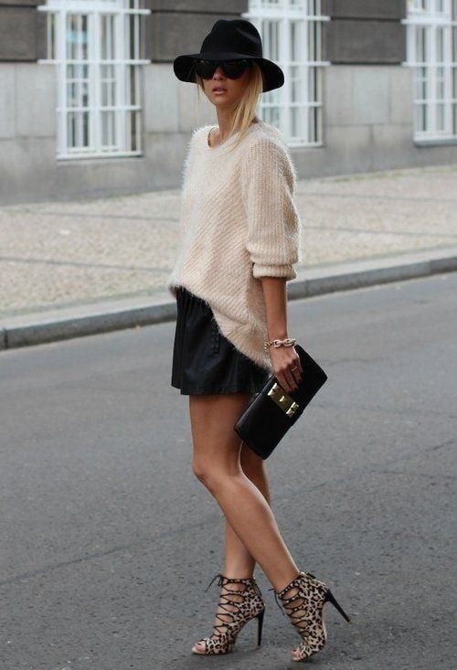 faux-leather-shorts Cute Leather shorts outfits - 30 Ways to Wear Leather Shorts