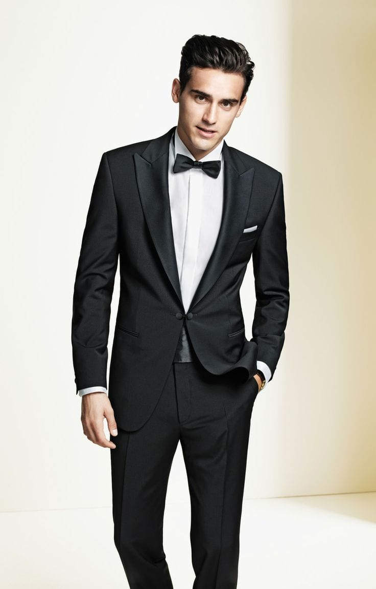 30 amazing men 39 s suits combinations to get sharp look for Black tuxedo shirt for men