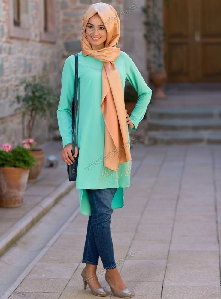 30 stylish ways to wear hijab with jeans for chic look Hijab fashion trends style turkish