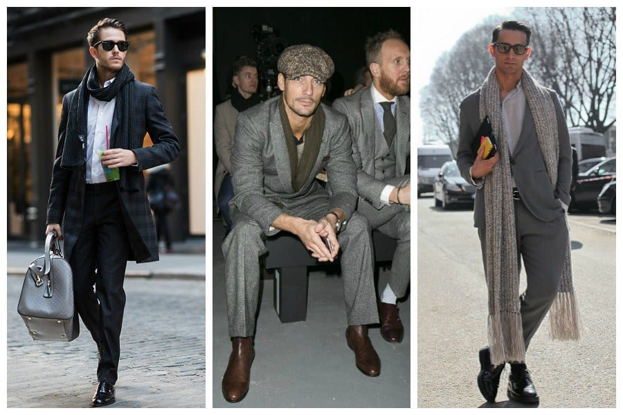 how-to-wear-a-scarf-with-suit 30 Amazing Men's Suits Combinations to Get Sharp Look