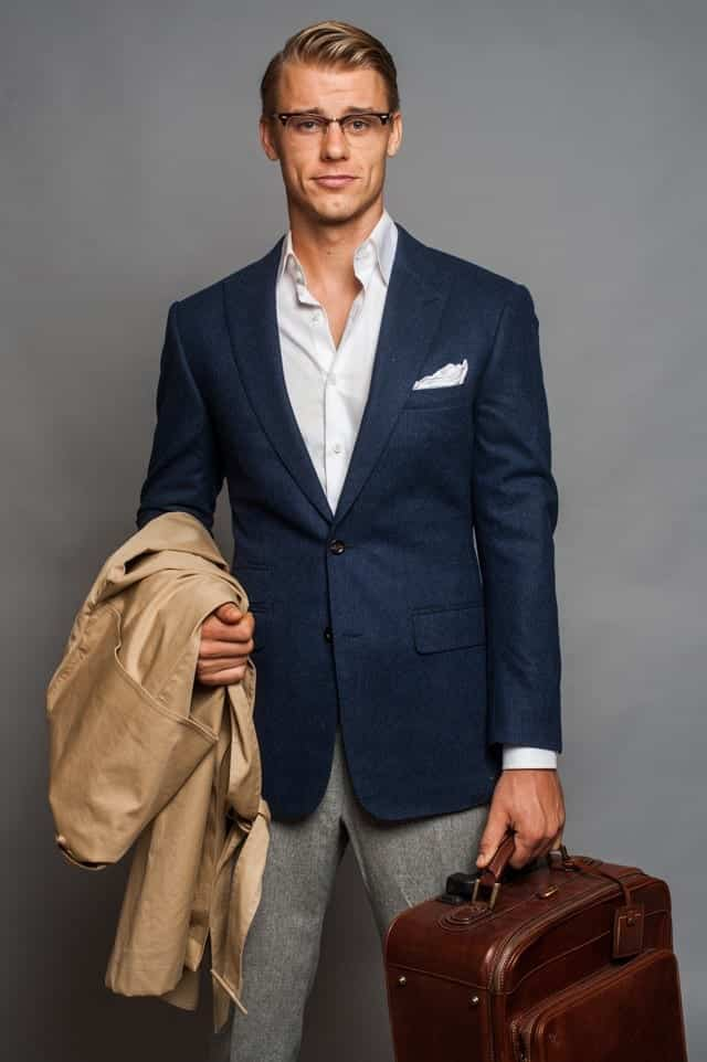 how-to-wear-a-suit-when-travelling-2 30 Amazing Men's Suits Combinations to Get Sharp Look