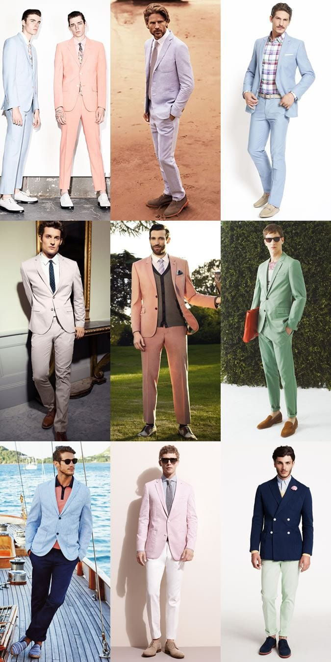 pastel-colored-suits-for-men-in-summers 30 Amazing Men's Suits Combinations to Get Sharp Look