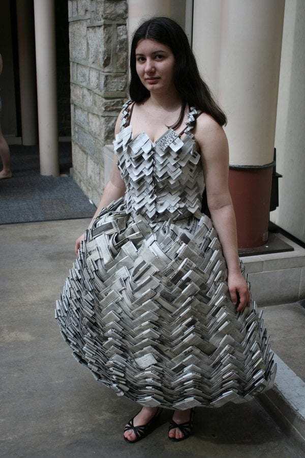 Amazing-Newspaper-dress 26 Amazing Paper Dresses Collection and Ideas