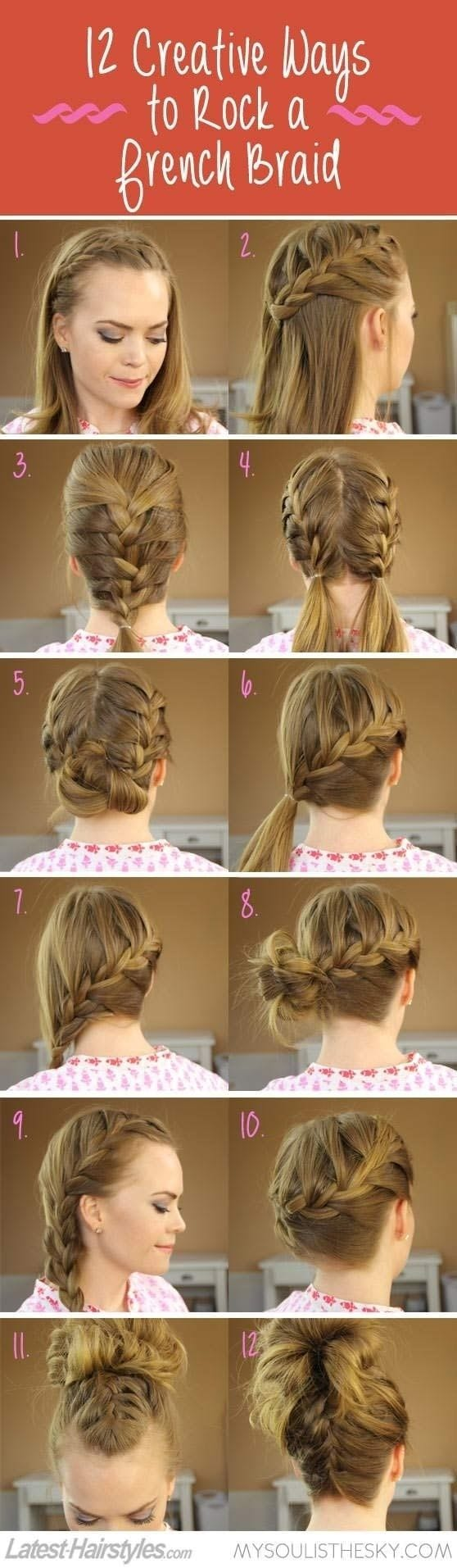 Braided-Hairstyles-Tutorials 20 Cute and Easy Braided Hairstyle Tutorials