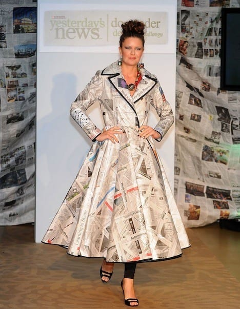 Dresses-Made-from-Newspapers 26 Amazing Paper Dresses Collection and Ideas
