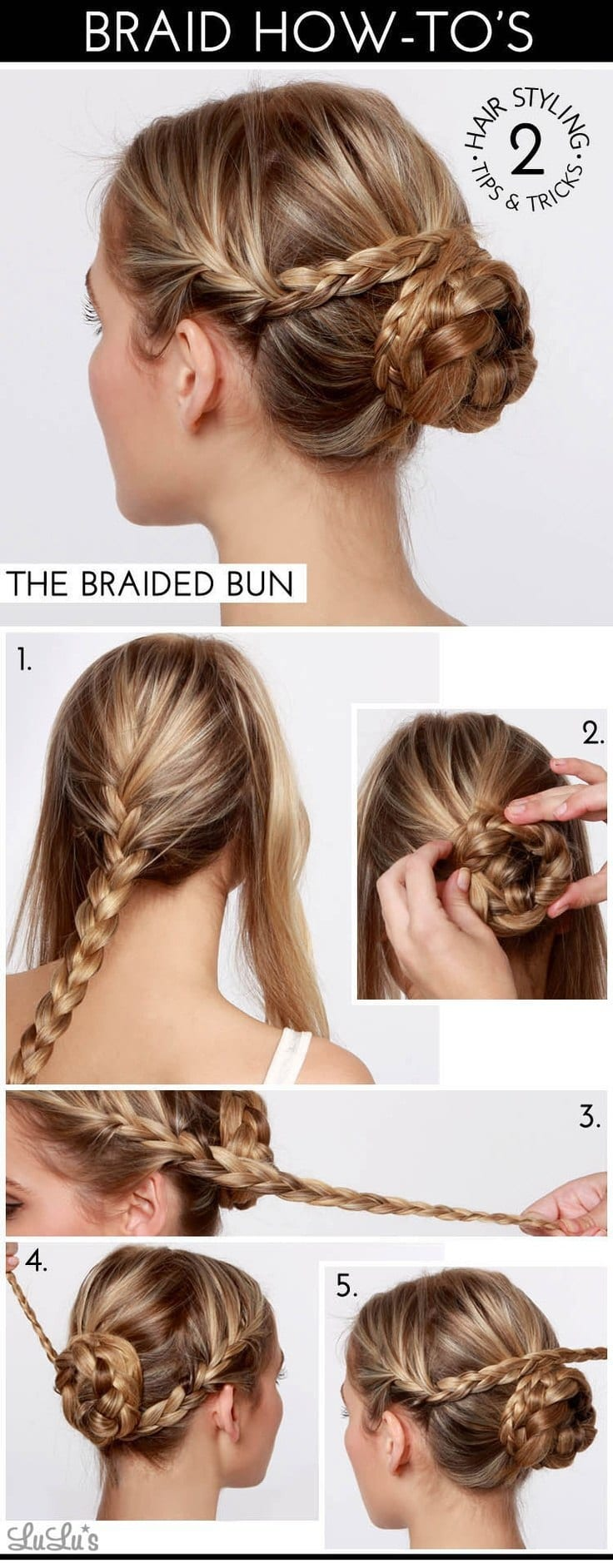 Easy-Braided-Bun-Tutorial 20 Cute and Easy Braided Hairstyle Tutorials