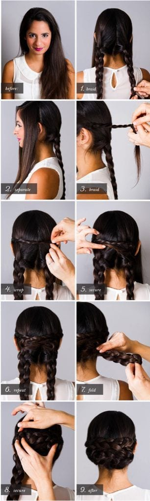 Easy-Braided-Hairstyle-Tutorials 20 Cute and Easy Braided Hairstyle Tutorials