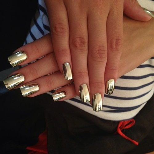 Funky-mirror-Nails Warning: These 25 Metallic Nails Will Make You Change Your Nail Design Now