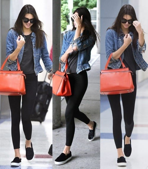 Kendal-Jenner-Denim-jacket 30 Most Stylish Kendall Jenner Outfits of All Time