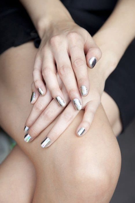 Mirror-nail-fashion-ideas Warning: These 25 Metallic Nails Will Make You Change Your Nail Design Now