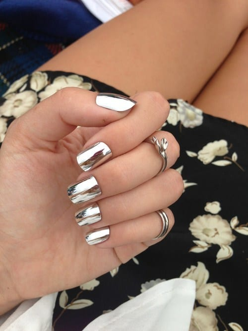 Mirror-nail-polish-ideas Warning: These 25 Metallic Nails Will Make You Change Your Nail Design Now