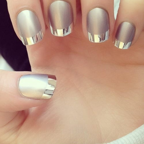 OPI-chrome-nail Warning: These 25 Metallic Nails Will Make You Change Your Nail Design Now