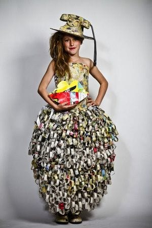Paper-dresses-kids 26 Amazing Paper Dresses Collection and Ideas