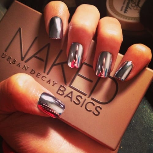 Shinny-Silver-Nails Warning: These 25 Metallic Nails Will Make You Change Your Nail Design Now