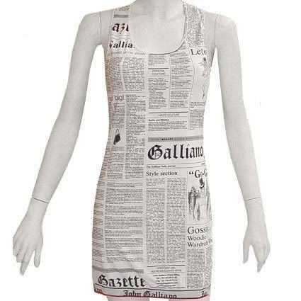 Sleeve Less paper dress