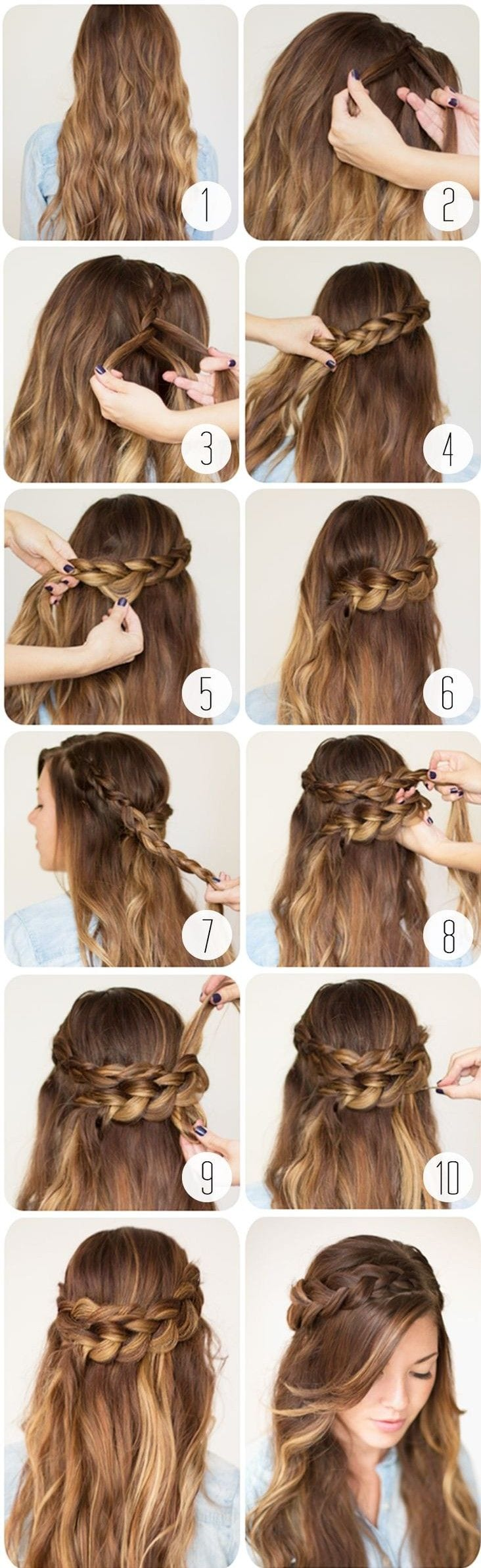 20 cute and easy braided hairstyle tutorials latest styles