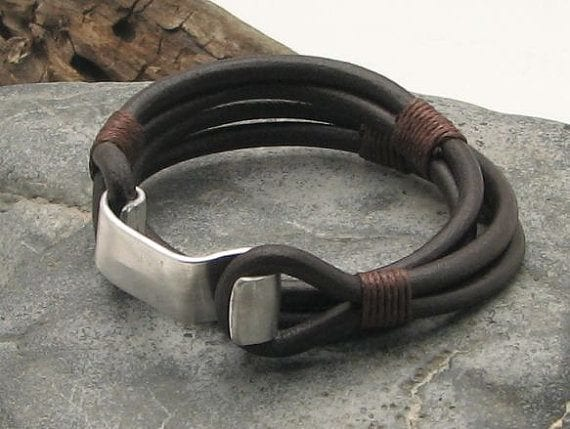 Stylish-Leather-Bracelet-Men 35 Most Trendy and Cool Leather Bracelets for Men