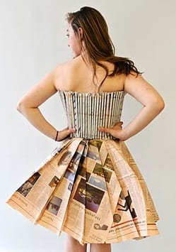 clothes-paper 26 Amazing Paper Dresses Collection and Ideas