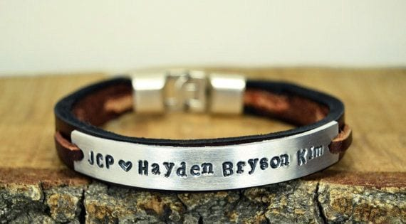 cool engraved leather bracelets