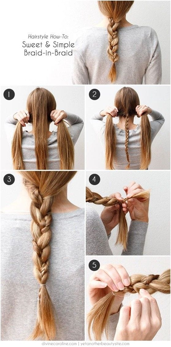 hair-braiding-tutorial 20 Cute and Easy Braided Hairstyle Tutorials