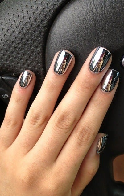 25 most awesome mirror and metallic nail art ideas prinsesfo Choice Image