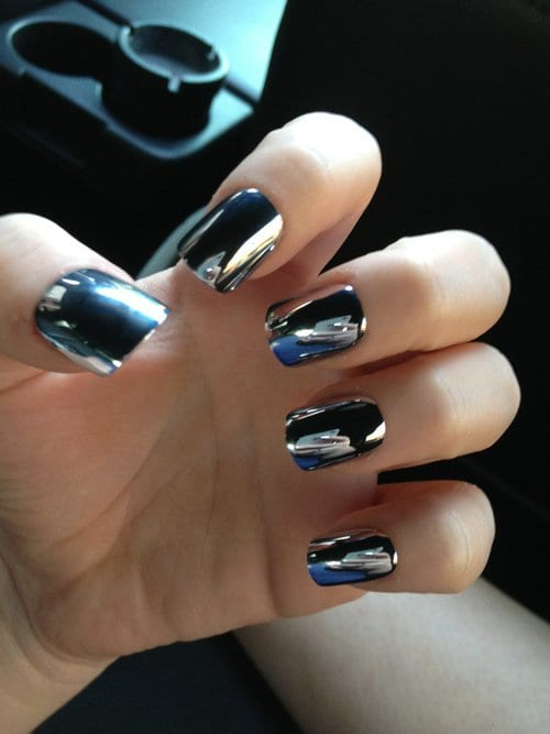 25 Most Awesome Mirror And Metallic Nail Art Ideas