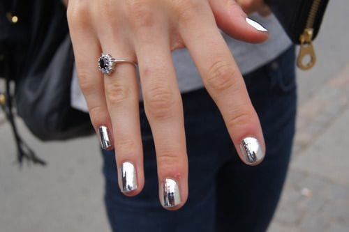 silver-metallic-nail-designs Warning: These 25 Metallic Nails Will Make You Change Your Nail Design Now