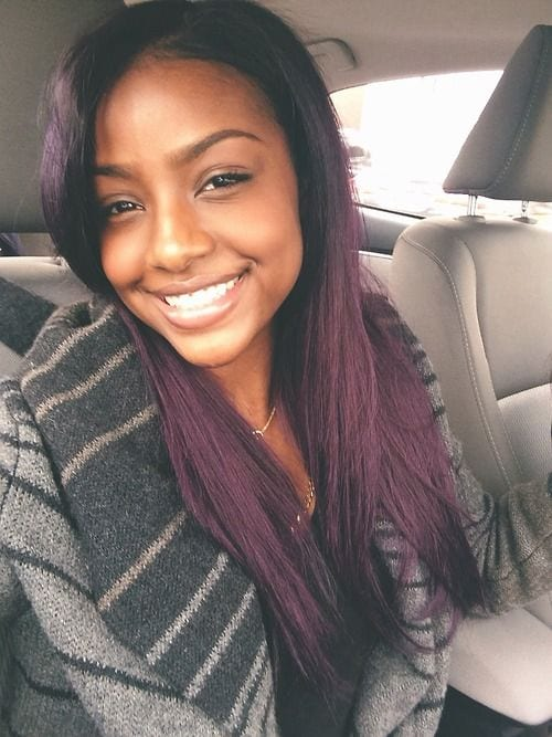 Black Girls Purple Hairs