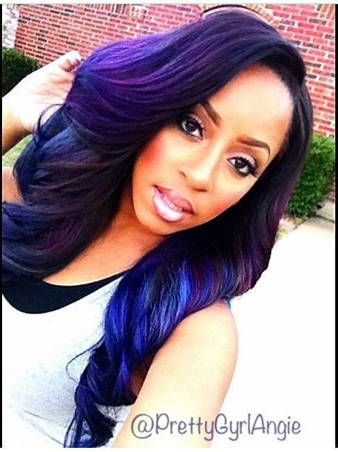 Groovy Top 13 Cute Purple Hairstyles For Black Girls This Season Hairstyles For Men Maxibearus