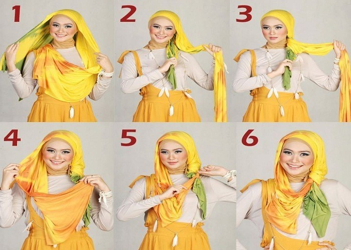 Easy-Hijab-Tutorial How to Wear Hijab Step by Step Tutorial in 15 Styles