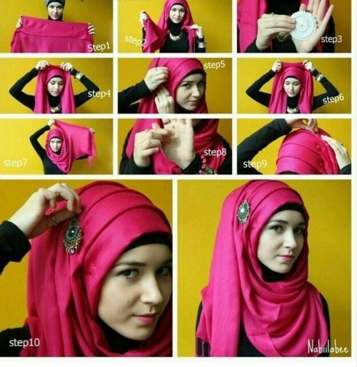 Outfittrends 15 Easy And Simple Hijab Tutorials For Beautiful Look