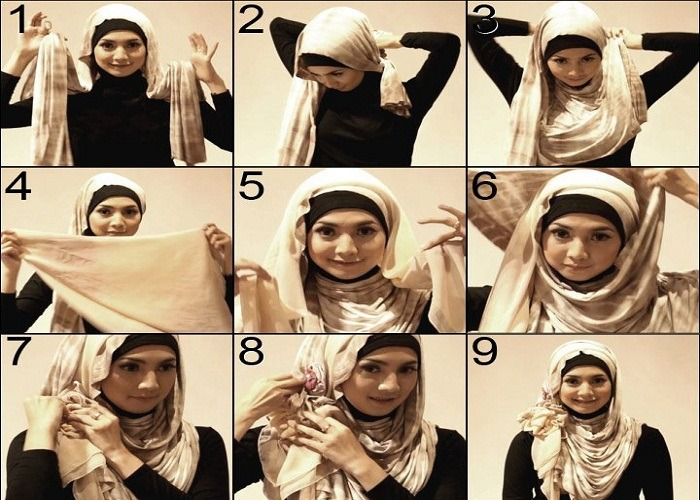 Latest-style-Hijab-Tutorial How to Wear Hijab Step by Step Tutorial in 15 Styles