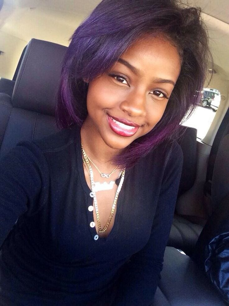 Superb Top 13 Cute Purple Hairstyles For Black Girls This Season Short Hairstyles Gunalazisus