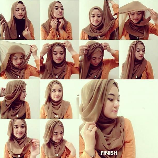Really-Simple-Hijab-tutorial How to Wear Hijab Step by Step Tutorial in 15 Styles