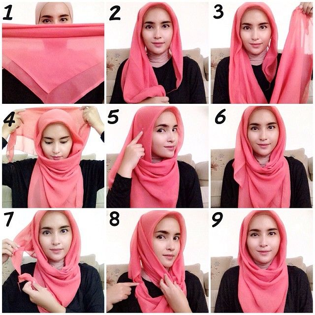 Trendy-Hijab-Style-Tutorial How to Wear Hijab Step by Step Tutorial in 15 Styles