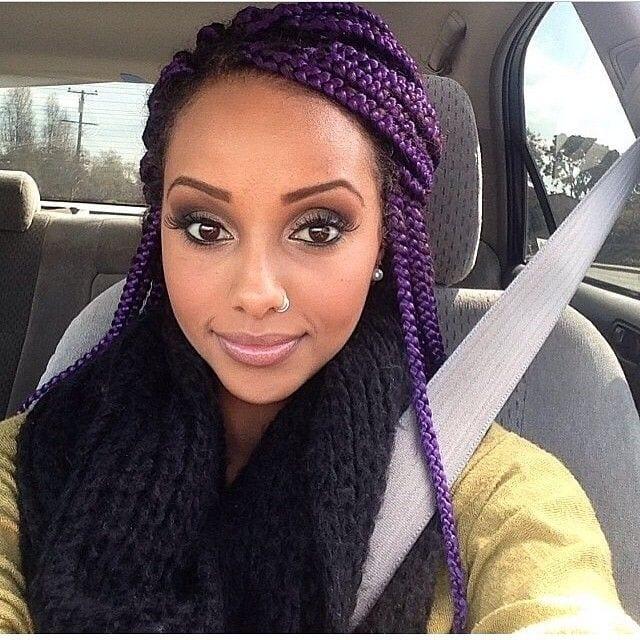 Pleasant Top 13 Cute Purple Hairstyles For Black Girls This Season Hairstyles For Women Draintrainus