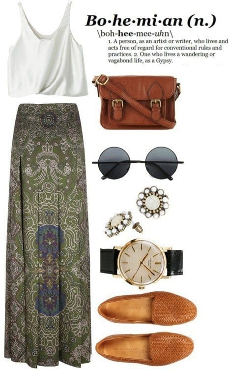 bohemian-style-outfits 12 Chic Style Bohemian Outfits Combinations for this Season