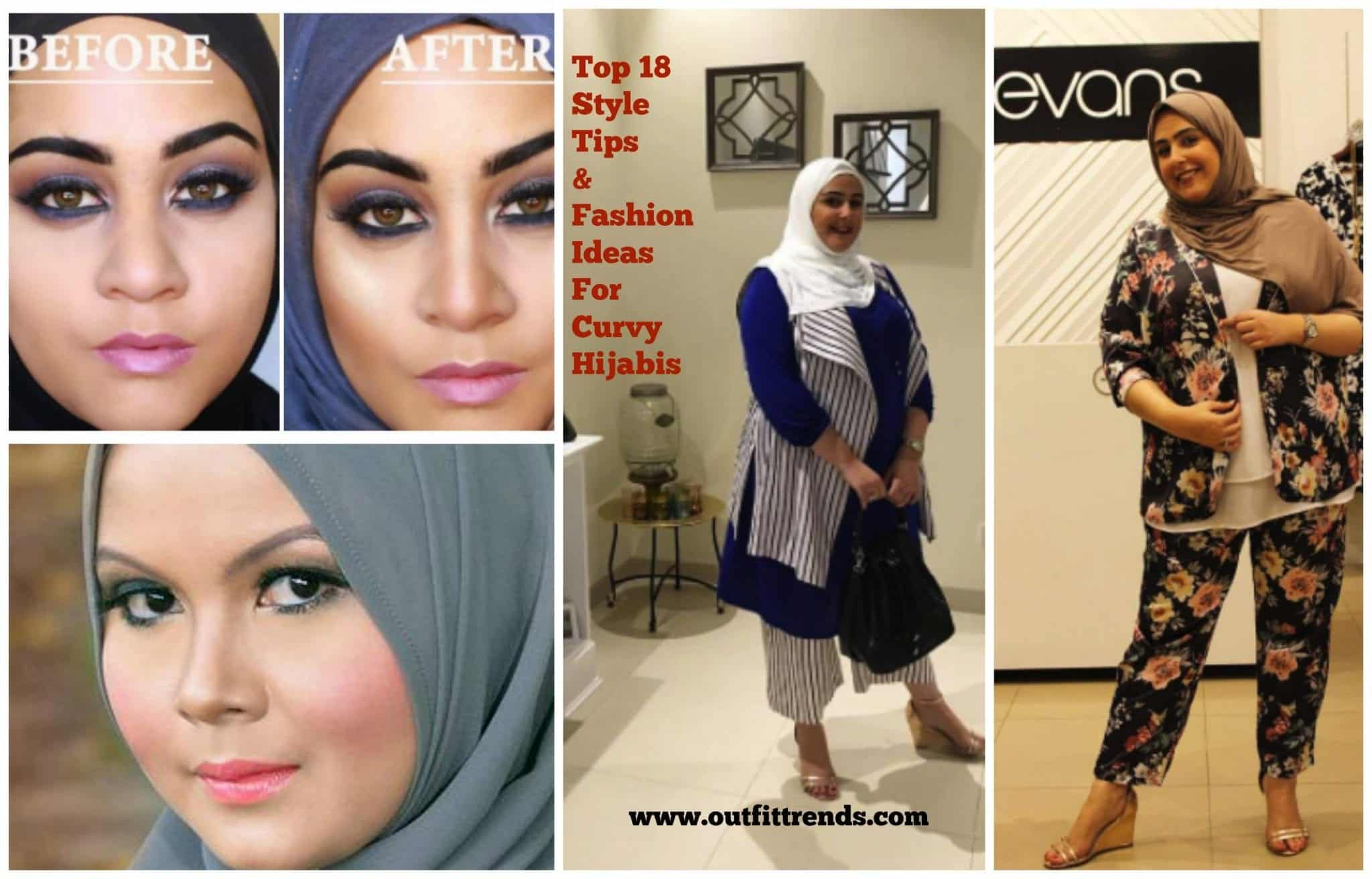 fashion-ideas-for-curvy-women 18 Popular Hijab Fashion Ideas for Plus Size Women