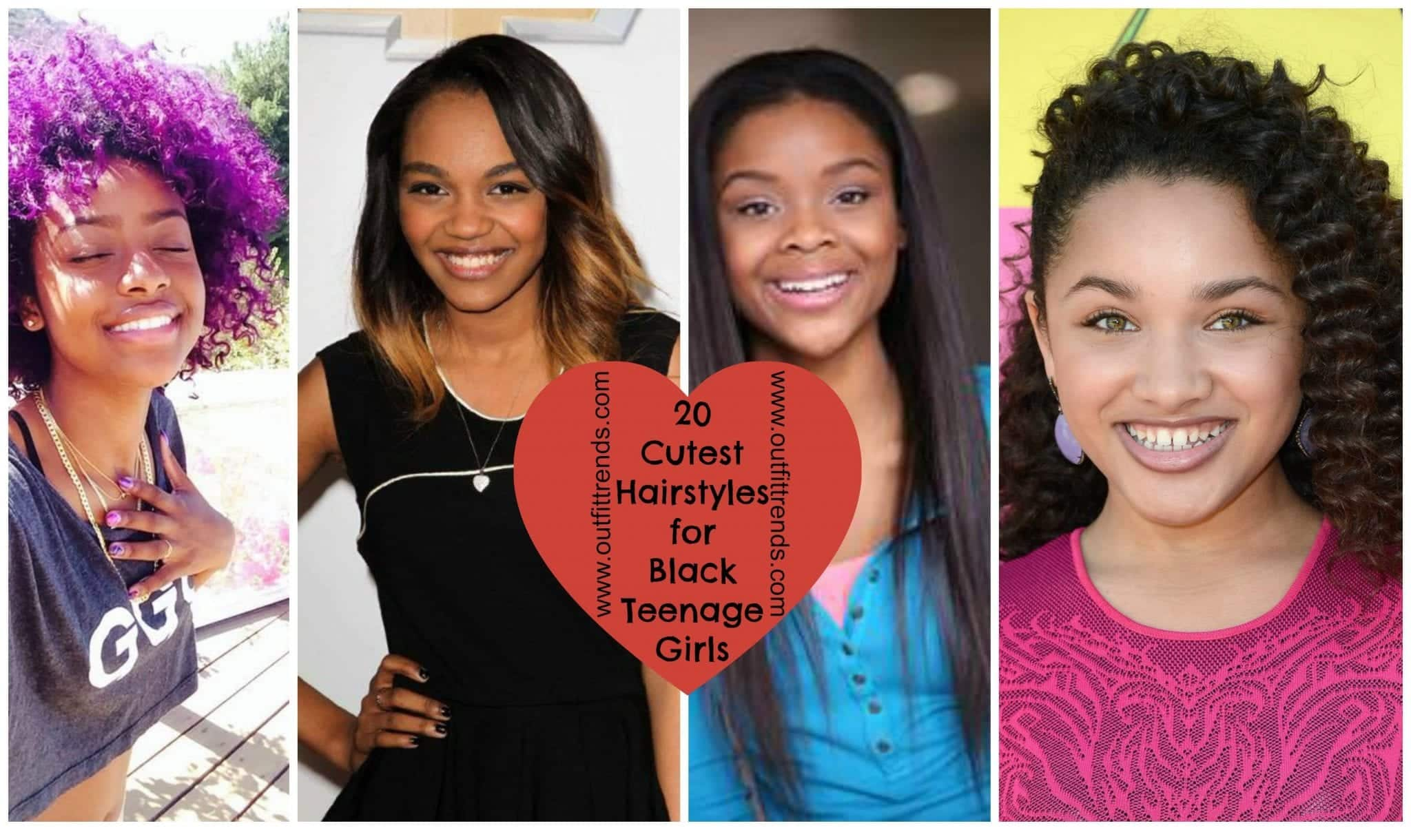 20 Cute Hairstyles For Black Teenage Girls