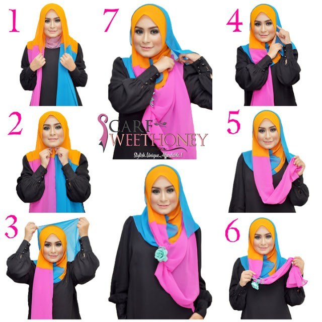 hijab-tutorial-Step-by-step How to Wear Hijab Step by Step Tutorial in 15 Styles